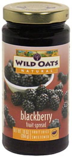 Wild Oats Fruit Spread Blackberry
