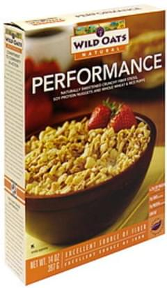 Wild Oats Fiber Sticks, Protein Nuggets and Wheat & Rice Puffs Performance