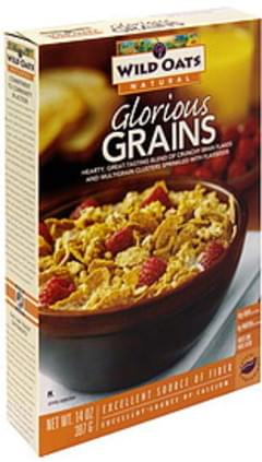 Wild Oats Bran Flakes and Multigrain Clusters with Flaxseeds Glorious Grains