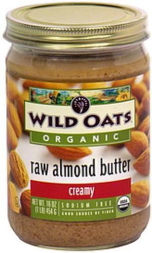 Wild Oats Creamy Raw Almond Butter - 16 oz