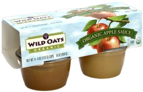 Wild Oats Apple Sauce - 4 ea
