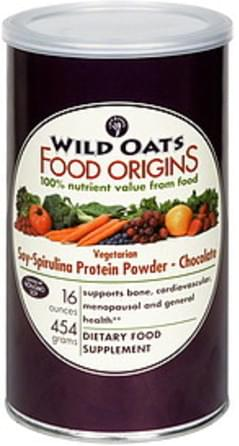 Wild Oats Soy-Spirulina Protein Powder Vegetarian, Chocolate