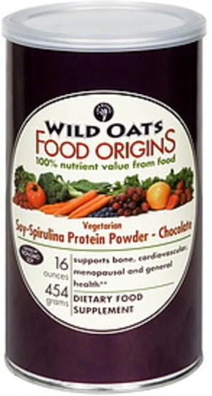 Wild Oats Vegetarian, Chocolate Soy-Spirulina Protein Powder - 16 oz
