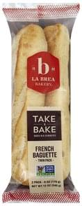 La Brea Bakery Baguette French, Twin Pack