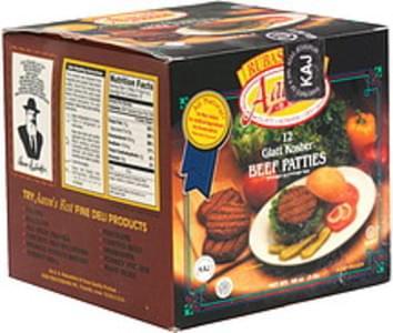 Rubashkins Glatt Kosher Beef Patties