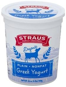 Straus Family Creamery Yogurt Greek, Nonfat, Plain