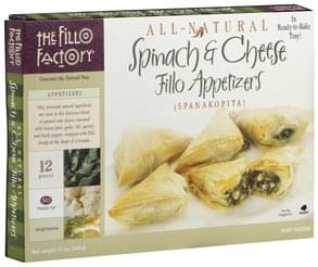 Fillo Factory Fillo Appetizers Spinach & Cheese