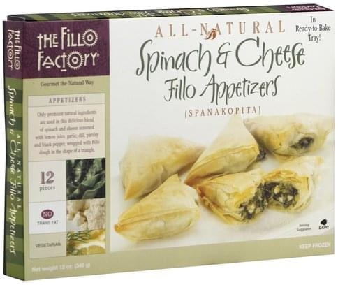 Fillo Factory Spinach & Cheese Fillo Appetizers - 12 oz