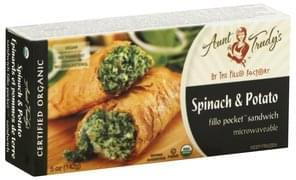 Aunt Trudys Fillo Pocket Sandwich Organic, Spinach & Potato