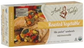 Aunt Trudys Fillo Pocket Sandwich Roasted Vegetable