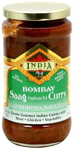 India Select Saag (Spinach) Curry Cooking Sauce - 16 oz