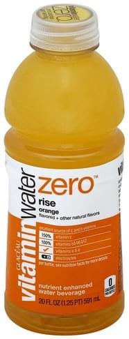 Vitaminwater Nutrient Enhanced, Rise, Orange Water Beverage - 20 oz