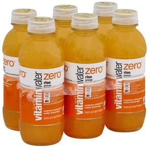 Vitaminwater Water Beverage Nutrient Enhanced, Rise, Orange