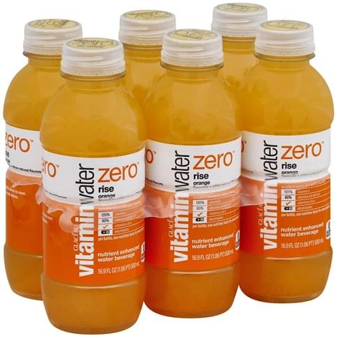 Vitaminwater Nutrient Enhanced, Rise, Orange Water Beverage - 6 ea