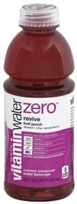 Vitaminwater Water Beverage Nutrient Enhanced, Revive, Fruit Punch