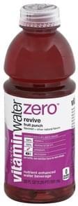 Vitaminwater Water Beverage Nutrient Enhanced, Revive, Fruit Punch