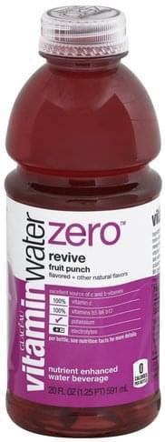 Vitaminwater Nutrient Enhanced, Revive, Fruit Punch Water Beverage - 20 oz