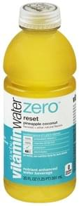 Vitaminwater Water Beverage Nutrient Enhanced, Reset, Pineapple Coconut
