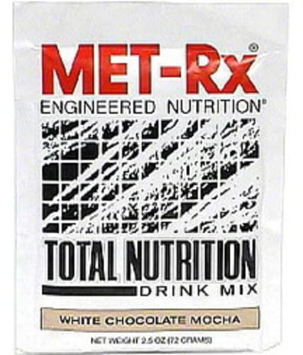 MET Rx White Chocolate Mocha Total Nutrition Drink Mix - 2.5 oz