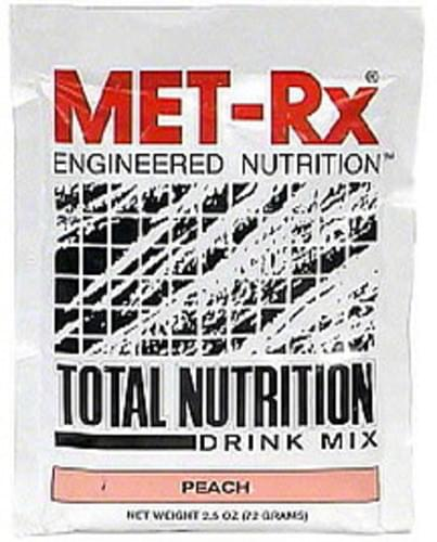 MET Rx Peach Total Nutrition Drink Mix - 2.5 oz