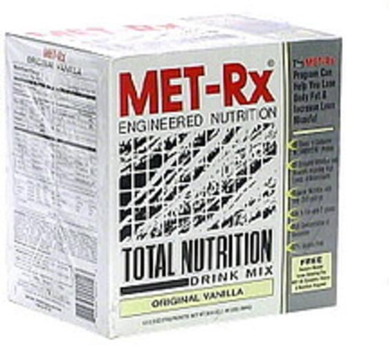 MET Rx Vanilla Total Nutrition Drink Mix - 12 ea