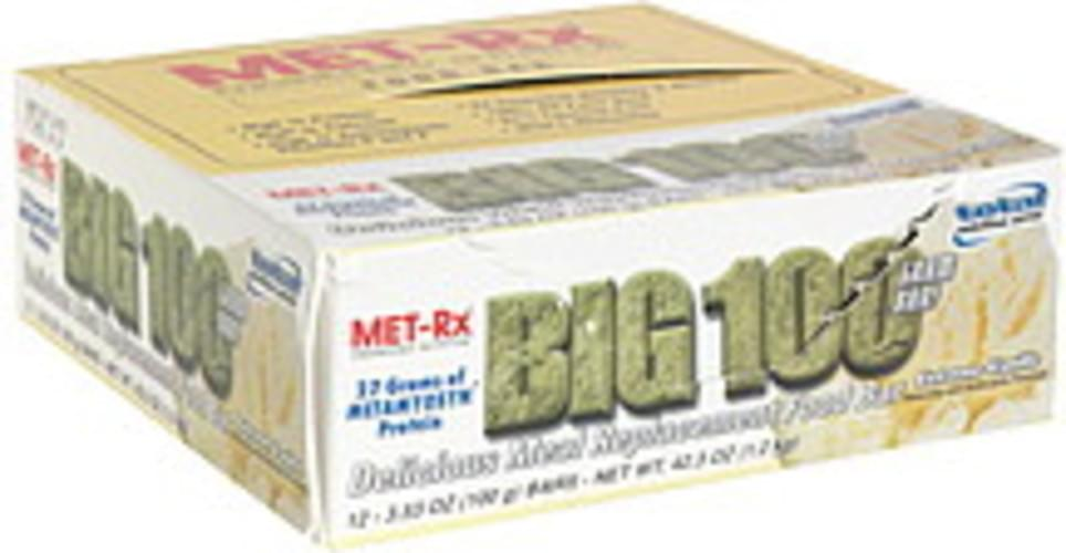 MET Rx Extreme Vanilla Delicious Meal Replacement Food Bar - 12 ea