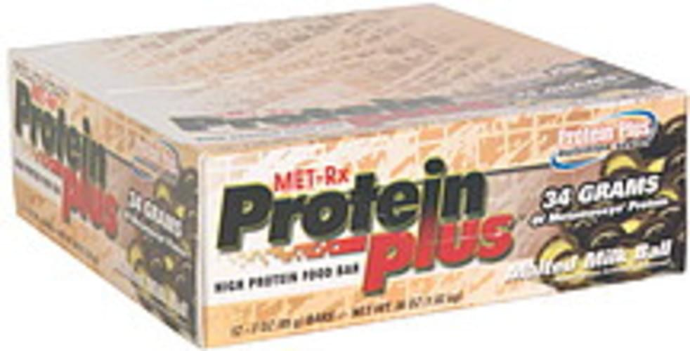 MET Rx Malted Milk Ball High Protein Food Bar - 12 ea
