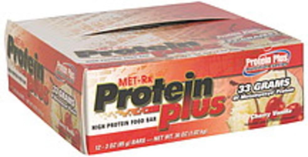 MET Rx Cherry Vanilla High Protein Food Bar - 12 ea