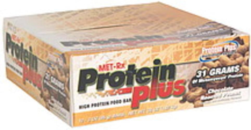 MET Rx Chocolate Roasted Peanut High Protein Food Bar - 12 ea