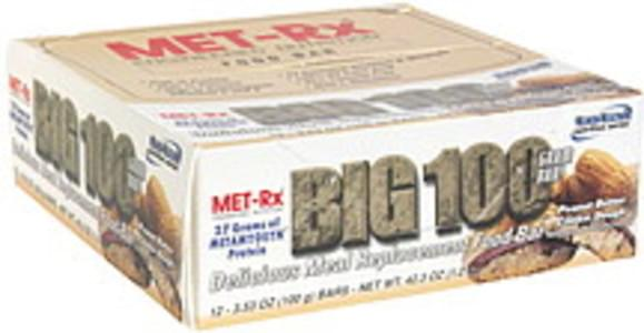 MET Rx Delicious Meal Replacement Food Bar Peanut Butter Cookie Dough