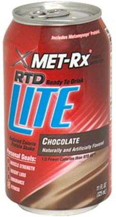 MET Rx Reduced Calorie Protein Shake Ready to Drink, Chocolate