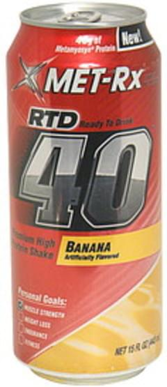 MET Rx Premium High Protein Shake Ready to Drink, Banana
