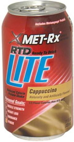 MET Rx Reduced Calorie Protein Shake Ready to Drink, Cappuccino