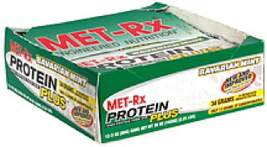 MET Rx Bavarian Mint High Protein Food Bar - 12 ea