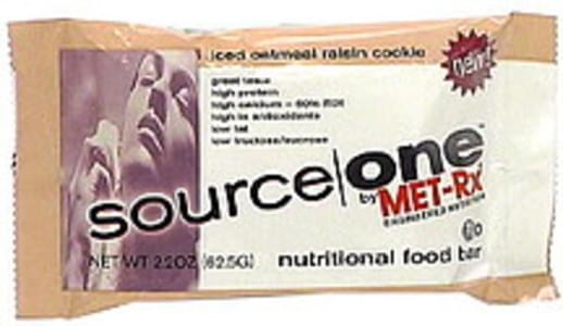 Source One Nutritional Food Bar Iced Oatmeal Raisin Cookie