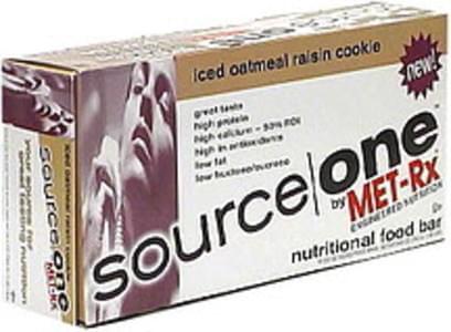 Source One Nutritional Food Bar Iced Oatmeal Raisin Cookie