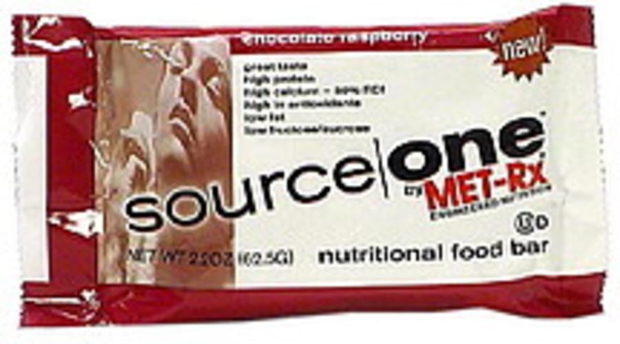 Source One Chocolate Raspberry Nutritional Food Bar - 62.5 g