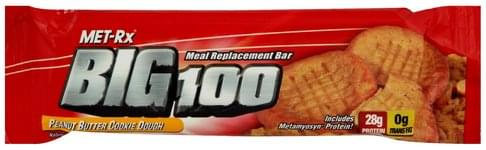 MET Rx Peanut Butter Cookie Dough Meal Replacement Bar - 3.52 oz