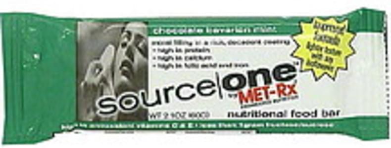 Source One Nutritional Food Bar Chocolate Bavarian Mint