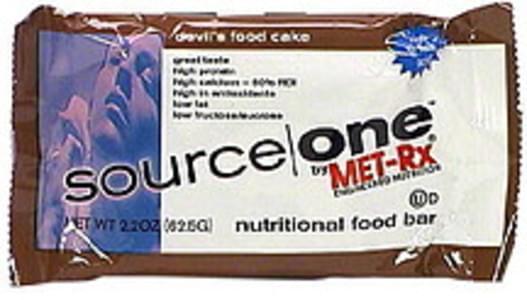 Source One Nutritional Food Bar Devil's Food Cake, High In Folic Acid