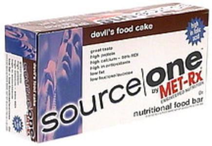 Source One Nutritional Food Bar Devil's Food Cake