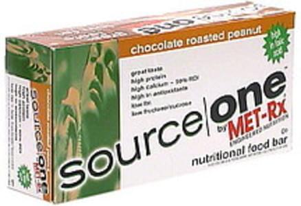 Source One Nutritional Food Bar Chocolate Roasted Peanut
