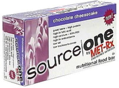 Source One Nutritional Food Bar Chocolate Cheesecake