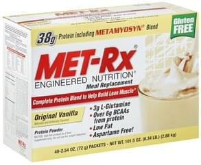 MET Rx Meal Replacement Protein Powder, Original Vanilla