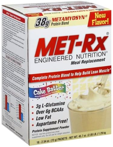 MET Rx Cake Batter Meal Replacement Powder - 18 ea