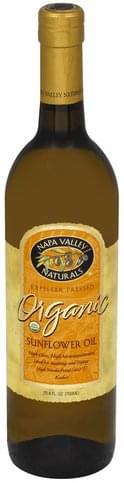 Napa Valley Naturals Organic Sunflower Oil - 25.4 oz