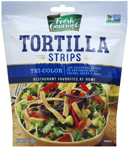 Fresh Gourmet Tri-Color Tortilla Strips - 3.5 oz
