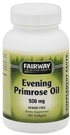 Fairway Primrose Oil Evening, 500 mg, Softgels