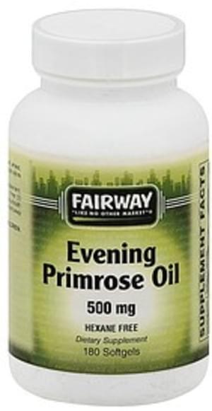 Fairway Evening, 500 mg, Softgels Primrose Oil - 180 ea