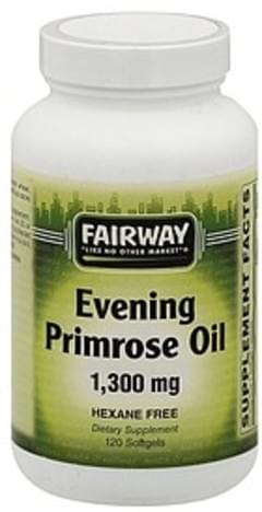 Fairway Primrose Oil Evening, 1300 mg, Softgels